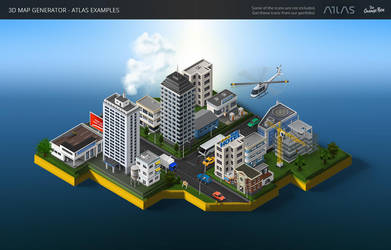 Icon City -3D Map Generator - Atlas for Photoshop by templay-team