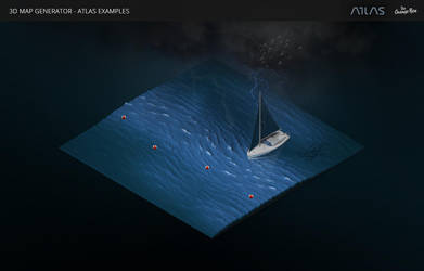 Dark Waters-3D Map Generator - Atlas for Photoshop by templay-team