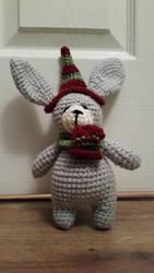 Amigurumi Snow Bunny by crystal-of-ix