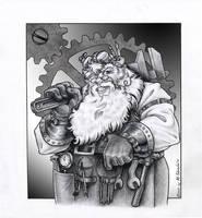 Steampunk Santa by M-Skirvin