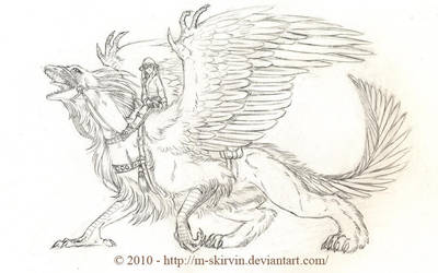 Archaeopteryx-Gryphon Rider by M-Skirvin