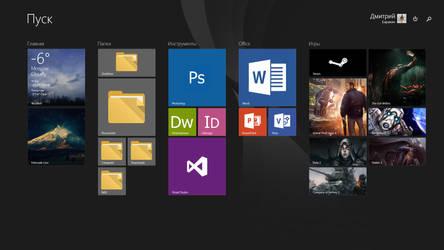 Windows 8.1 Metro UI Screenshot by xeeqqw
