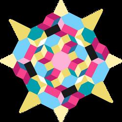 Pinkie pie / fluttershy tile pattern by deathblob