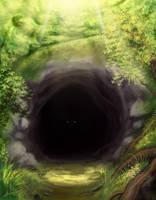 Forest cave by eronzki999