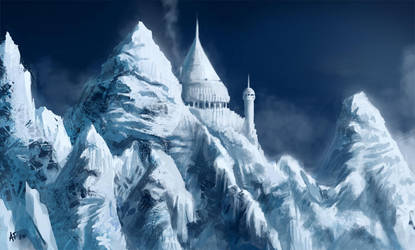 Snowy mountain by eronzki999