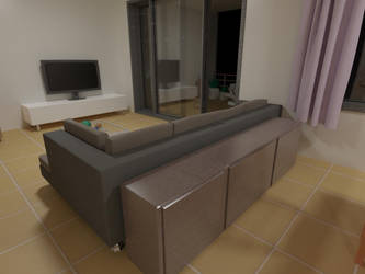 Living Room 04 - night by gulisch