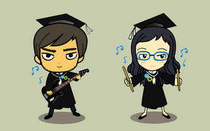 Graduation Cartoon by Chapet