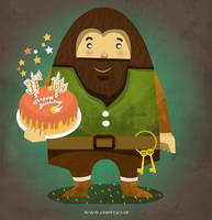 Hagrid in Harry Potter cartoon by Chapet