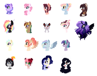 All My OC's 2 by Saphi-Boo