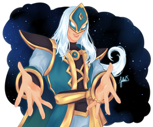 Jenos Holding Out Hands (Paladins) by JULIA-CS