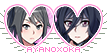 Yandere Simulator stamp: Ayano x Oka by ENERHEL