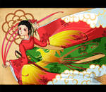 Red Kimono by Lumella