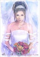 Yuna Wedding by RoryonaRainbow