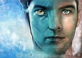 Sam Worthington as Jake Sully by RoryonaRainbow