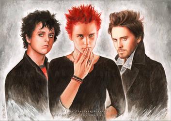 Billie, Matthew and Jared by RoryonaRainbow