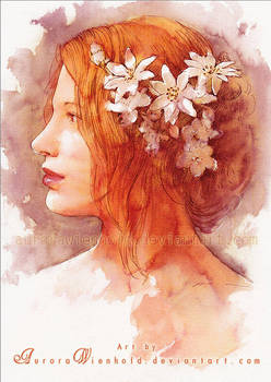 Portrait - Watercolor by RoryonaRainbow