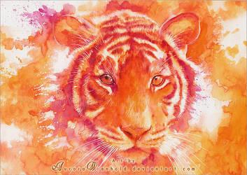 Magenta tiger by RoryonaRainbow