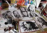 Just got Loki'd - Workspace full of Loki inks by RoryonaRainbow
