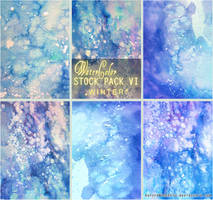 WINTER - WATERCOLOR STOCK PACK VI by RoryonaRainbow