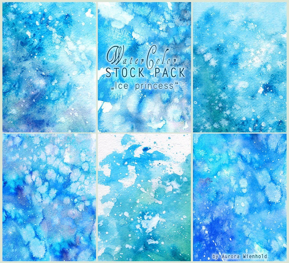 Ice princess - WATERCOLOR STOCK PACK by RoryonaRainbow