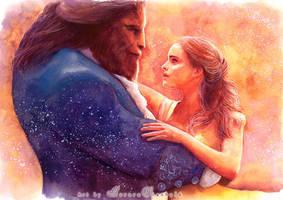 Beauty and the Beast by RoryonaRainbow