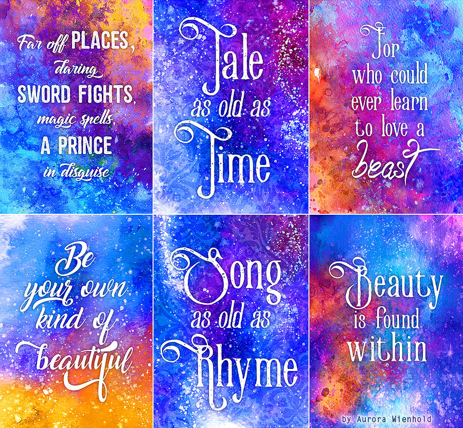 Tale as old as Time - Print Set - Beauty and Beast by RoryonaRainbow