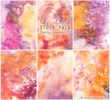 Spring Awakening - WATERCOLOR STOCK PACK by RoryonaRainbow