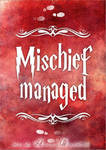 Mischief managed - PRINT by RoryonaRainbow