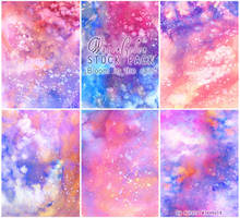 Bloom in the rain - WATERCOLOR STOCK PACK by RoryonaRainbow