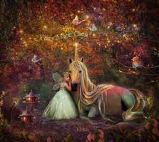 Rainbow Unicorn by AngelesRR