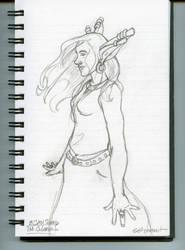 sElf portrait - pencil by SingingMollusk