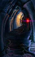 Inside a daedric shrine by AlexeyRudikov