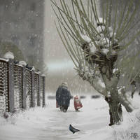 Snowfall by AlexeyRudikov