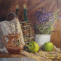 Still life with the basil by AlexeyRudikov