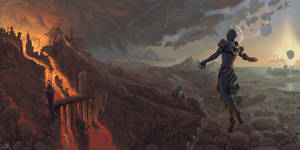The god above the island by AlexeyRudikov