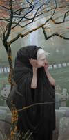 At the son's grave by AlexeyRudikov