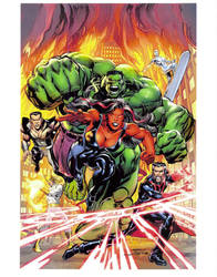 Final New Defenders 1 Alternate Cover by NealAdams