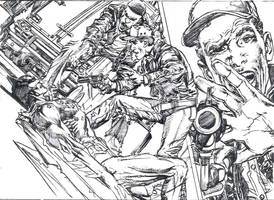 Batman Pencils 2 - Detail by NealAdams