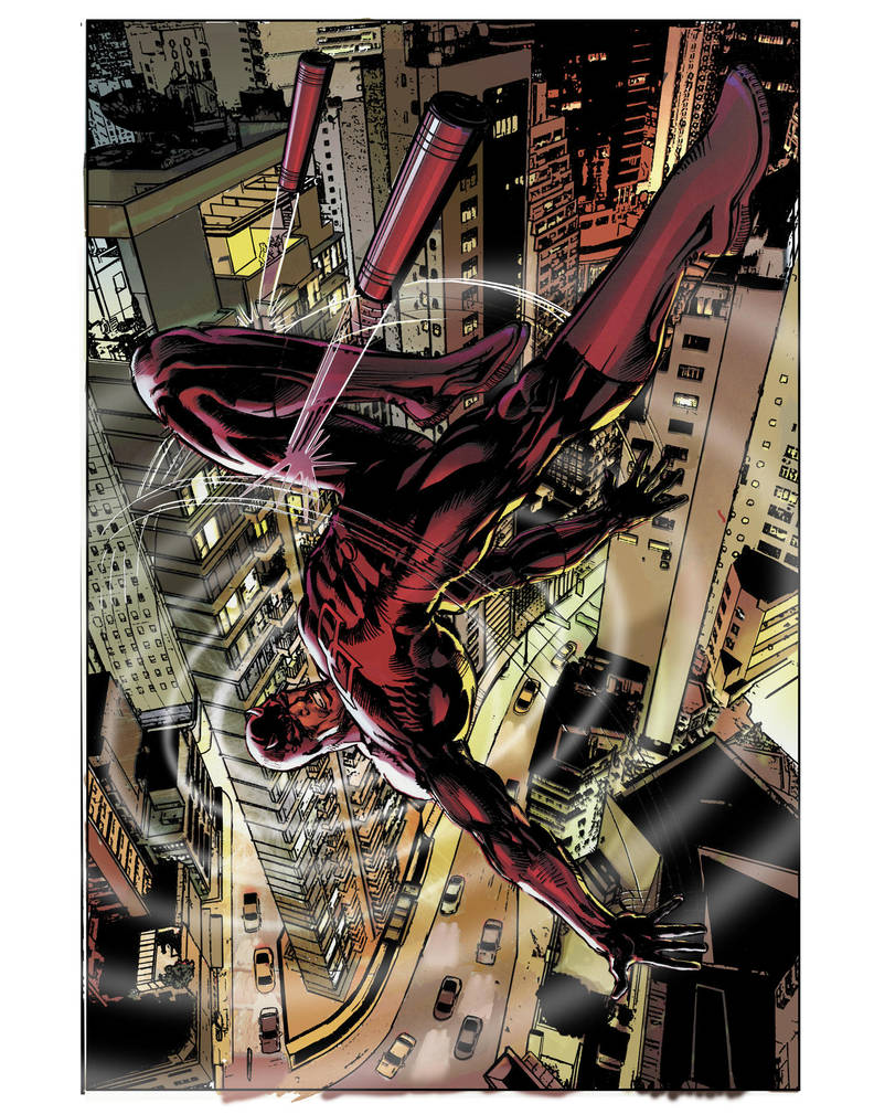 Daredevil Alternate cover Finish by NealAdams