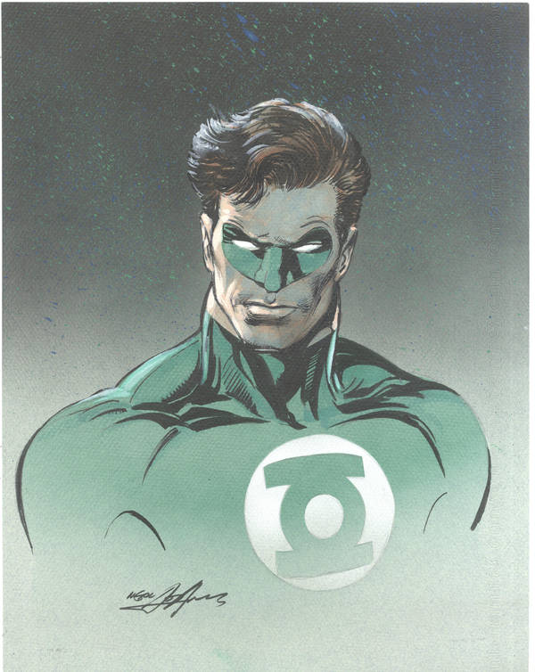 Green Lantern Drawing by NealAdams
