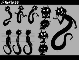 Starless Character Sheet by CloverToon