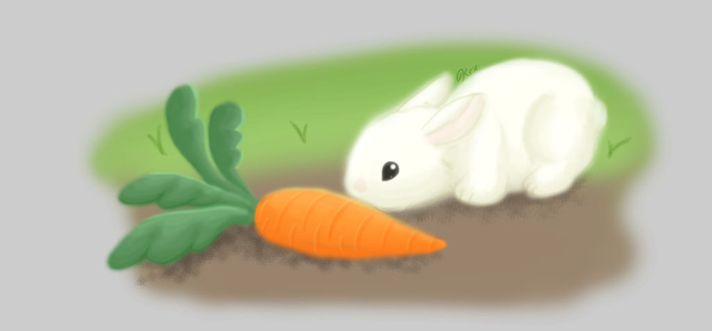 Bunny and Carrot by krxterme