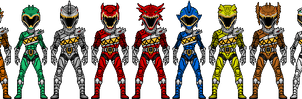 Power Rangers Dino Charge Titans by UltimateLomeli