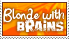 Blonde with brains. by Snuf-Stamps