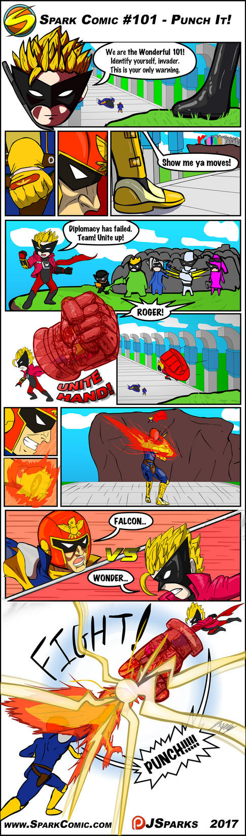 Spark Comic #101 - Punch It! by SuperSparkplug