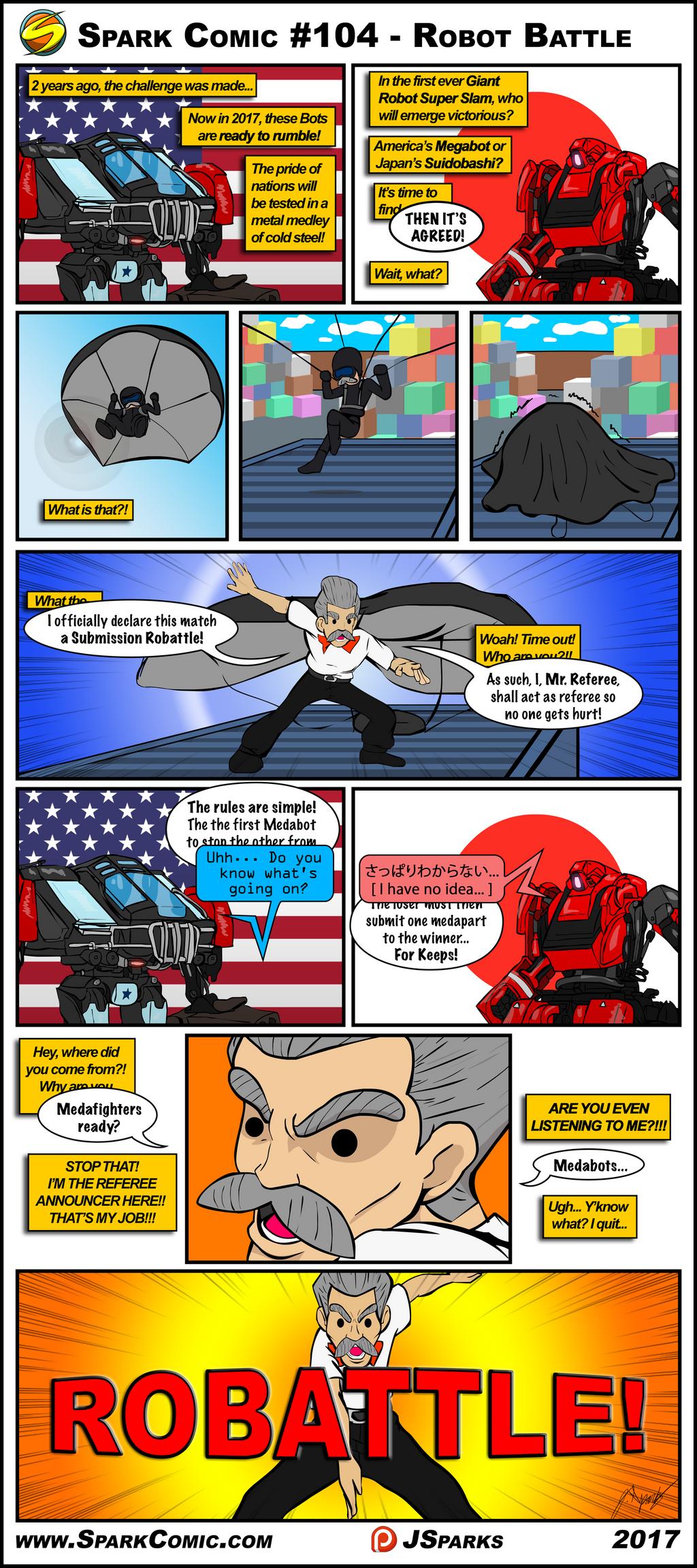 Spark Comic #104 - Robot Battle by SuperSparkplug