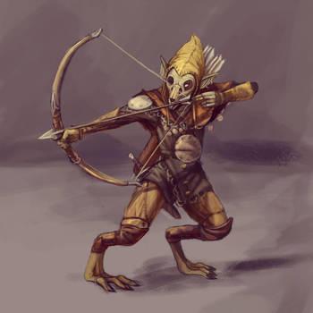 rabbit archer concept art by Kkohaku