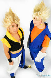 Gogeta and Vegito Cosplays by NaomiMoonZ
