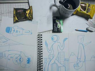 Bocetos by Marianoilustrado