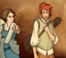Name of the Wind - Kvothe, Denna by leabharlann